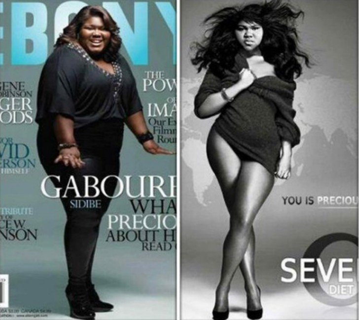 Gabourey Sidibe photoshop de pérdida de peso