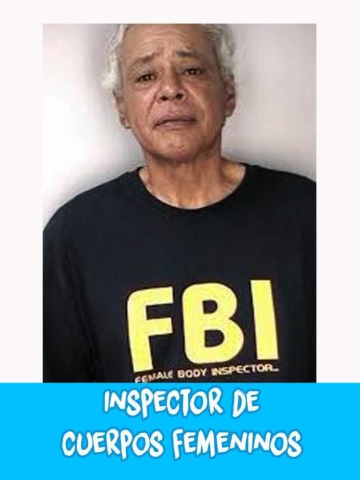 hombre con camiseta del fbi