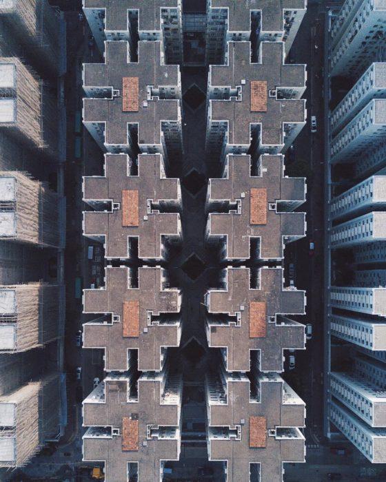 edificios vistos cenital