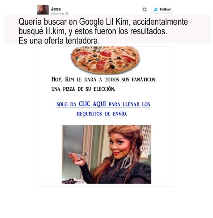 lil kim anunciando pizza