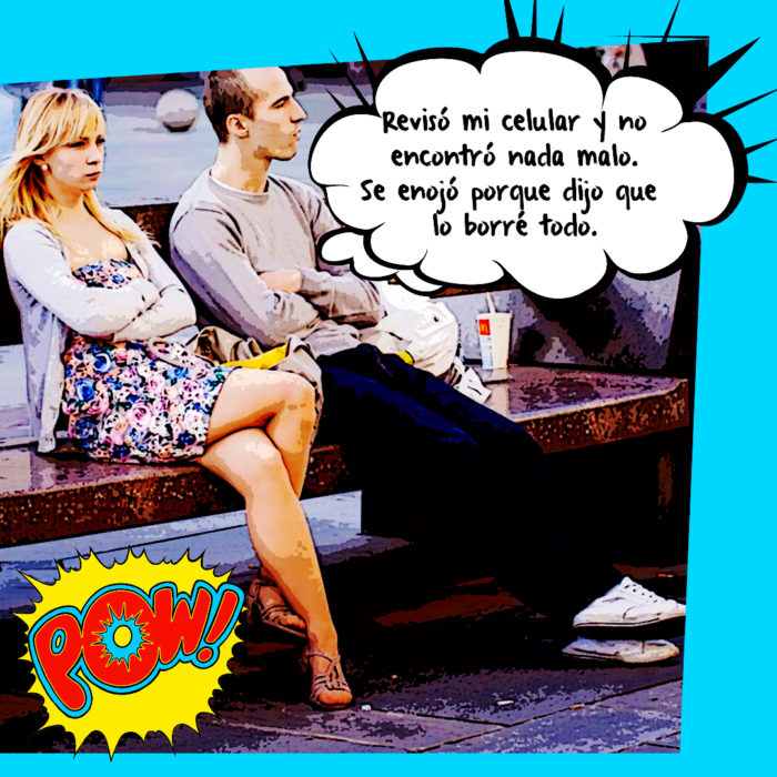 pareja molesta sentada en una banca