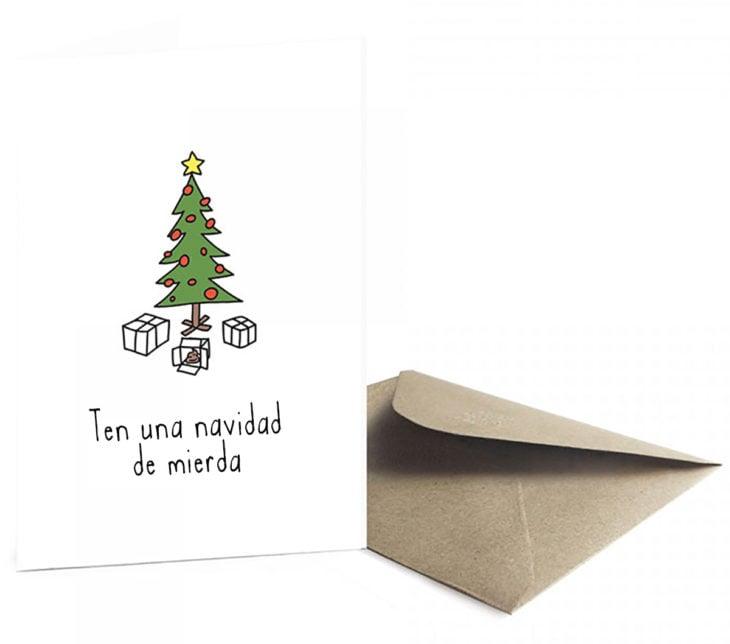 tarjeta de felicitación navideña con humor negro