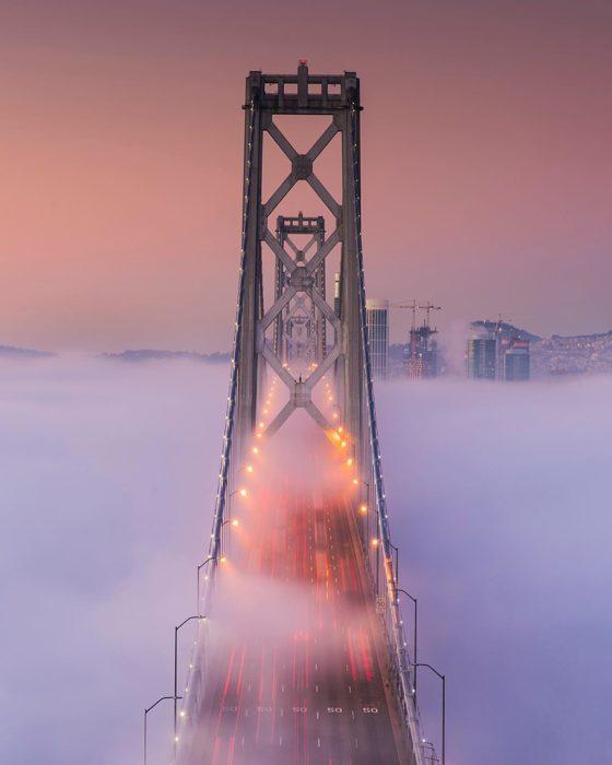 olas de niebla en san francisco