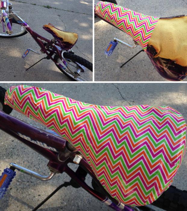 asiento de bicicleta de colores