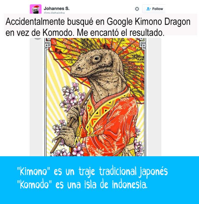 imágen de un dragón con kimono