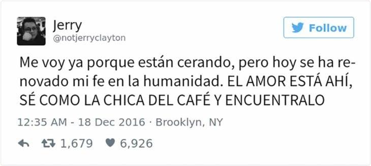 tuit de chico cafetería: se va de la cafetería