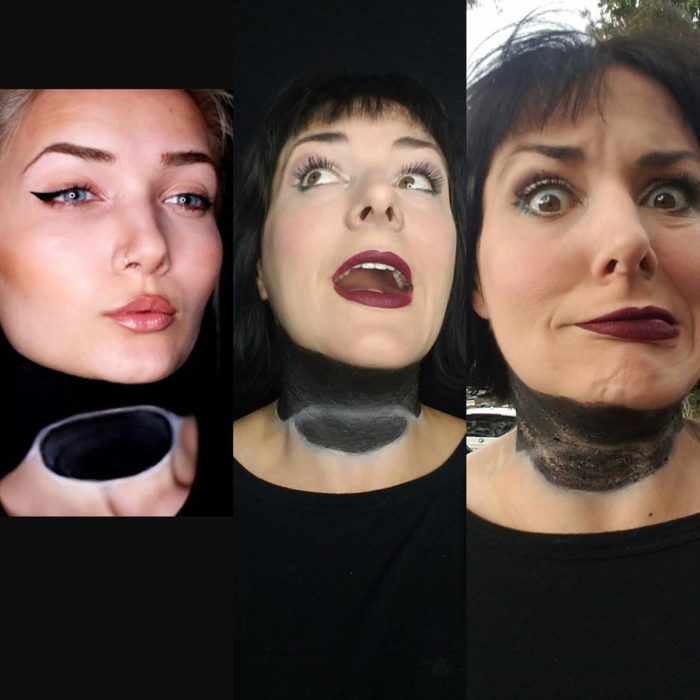 expectativa vs realidad maquillaje de halloween