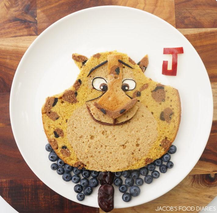 tigre de zootopía hecho de comida