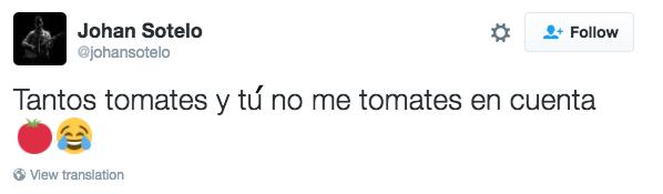 tuit sobre tomates