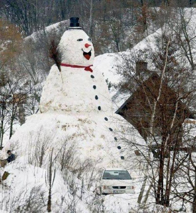 muñeco de nieve gigante