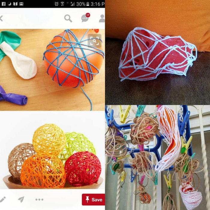 adornos hechos con globos, expectatia vs realidad