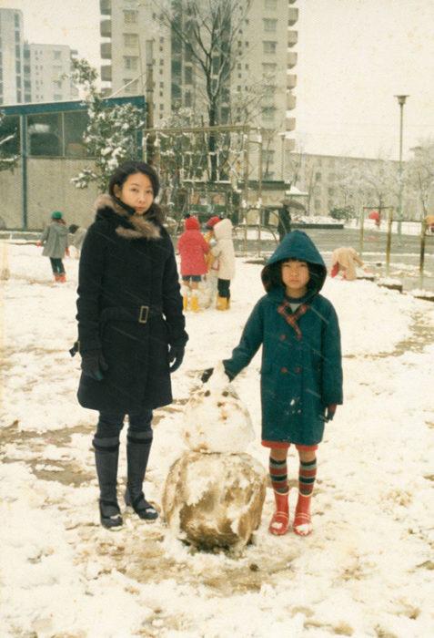 fotógrafa japonesa se edita en sus fotos de la infancia: japón 1980 a 2009