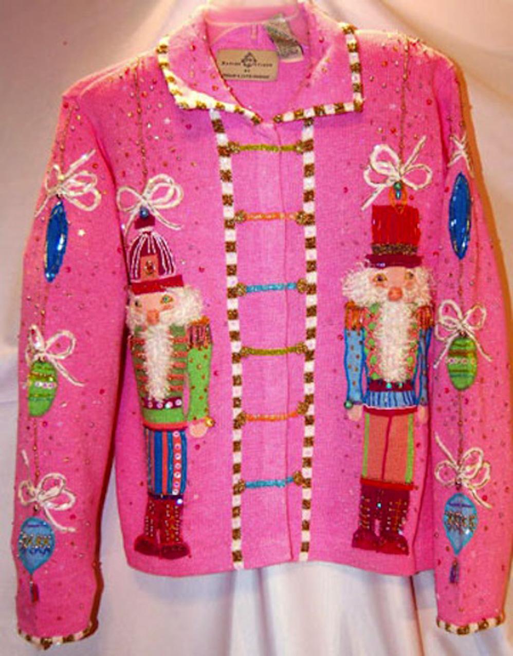 2016 de Las Mujeres Lindas suéter Feo de la Navidad Copos
