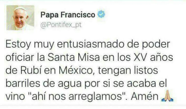 tuit del papa