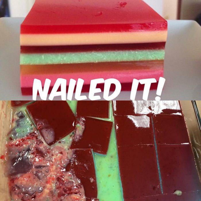 gelatina de pinterest, expectativa vs realidad