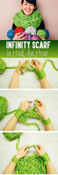 tutorial para hacer una bufanda