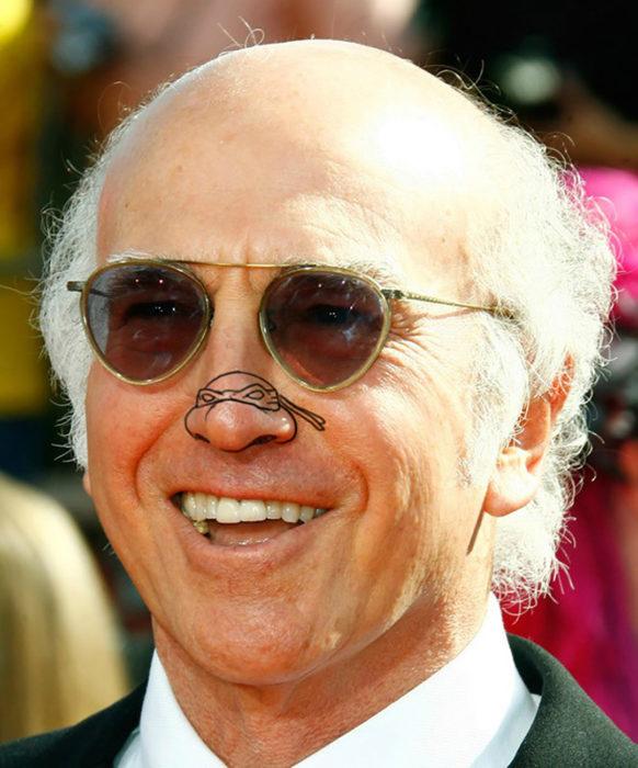 Larry David con nariz de tortuga