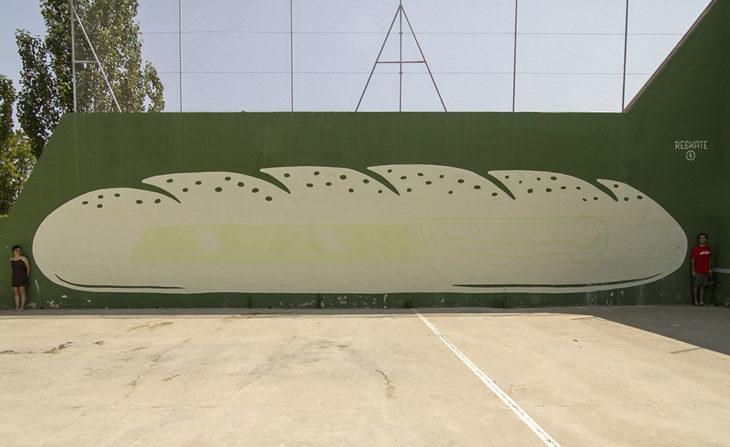 mural de hogaza de pan