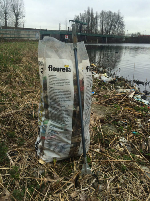 bolsa de basura en 30 mins