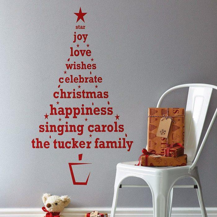árbol de navidad de vinilo