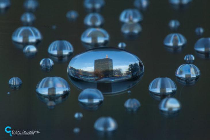 foto de belgrado tomada en gotas de agua