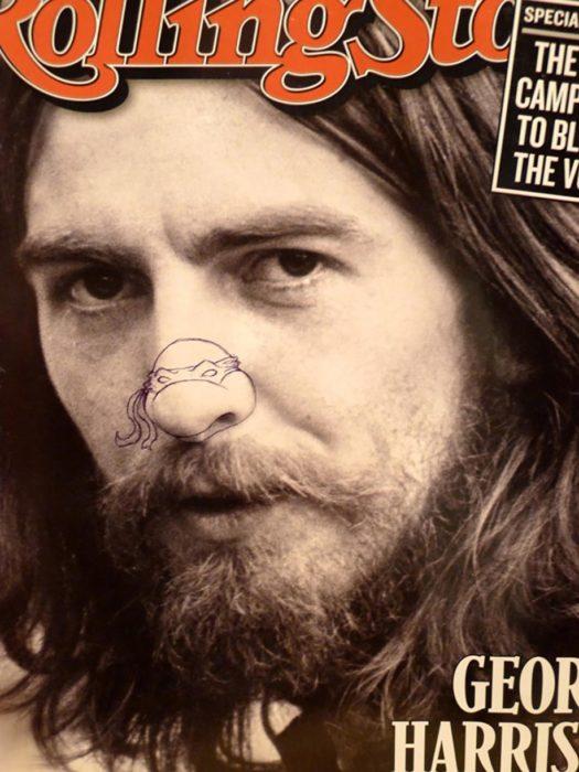 George Harrison con nariz de tortuga ninja