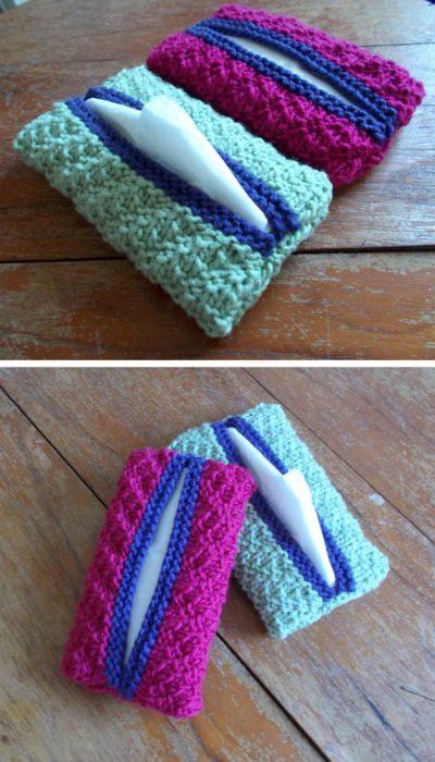 fundas tejidas para pañuelos