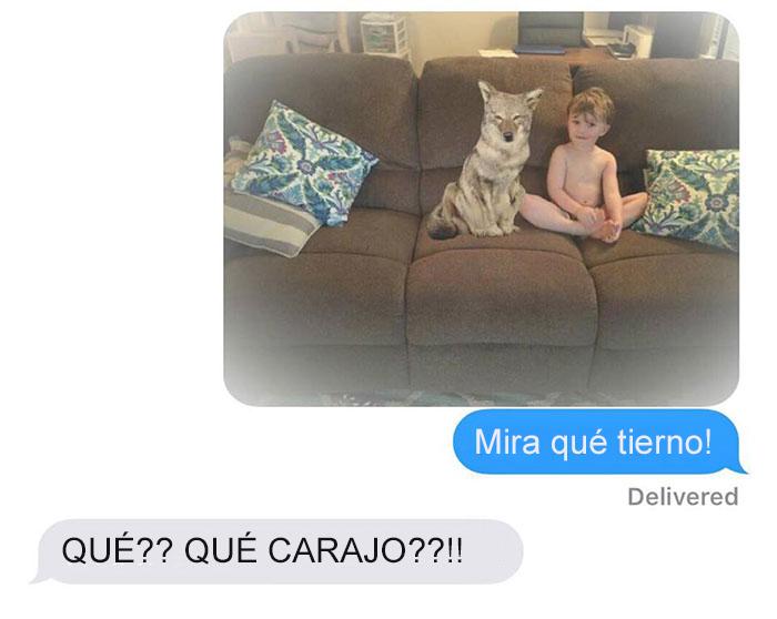 Mensaje de texto mujer bromea a su esposo - mira qué tierno
