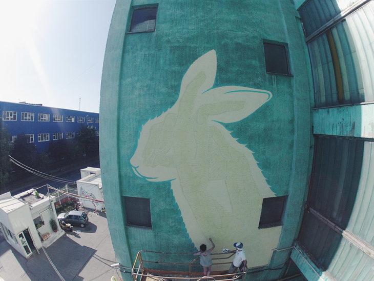 mural de conejo