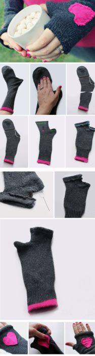 tutorial para hacer guantes de un calcetín