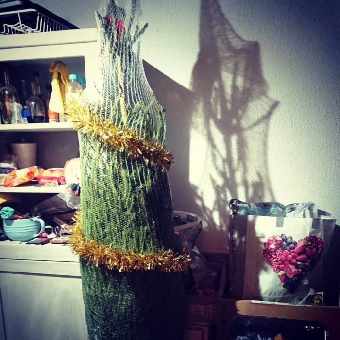 árbol de navidad dentro de red de maya