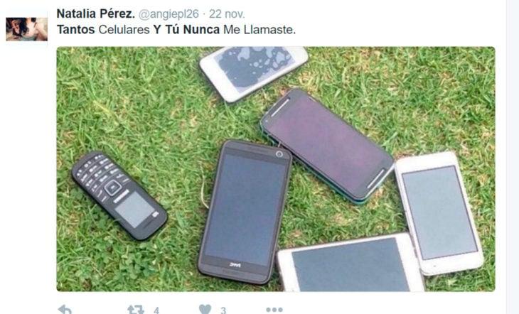celulares en el pasto