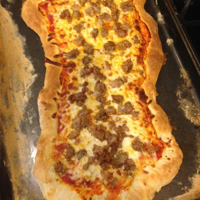 pizza mal hecha