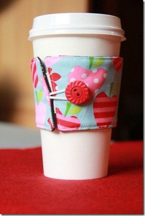 revestimiento de tela para taza