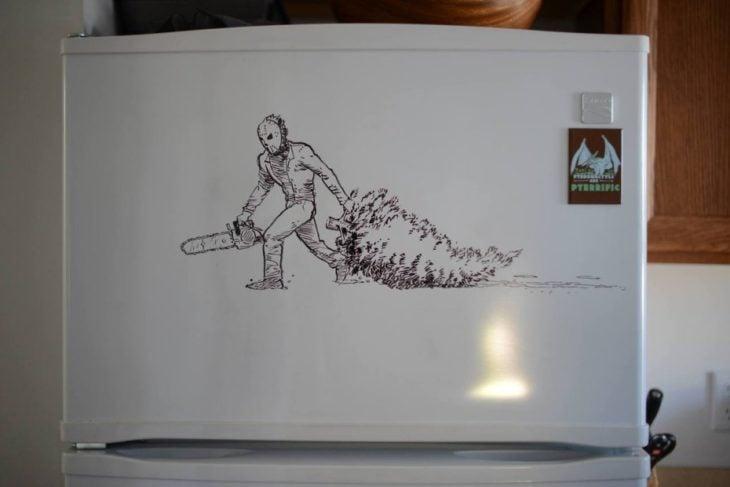 dibujo en el refrigerador
