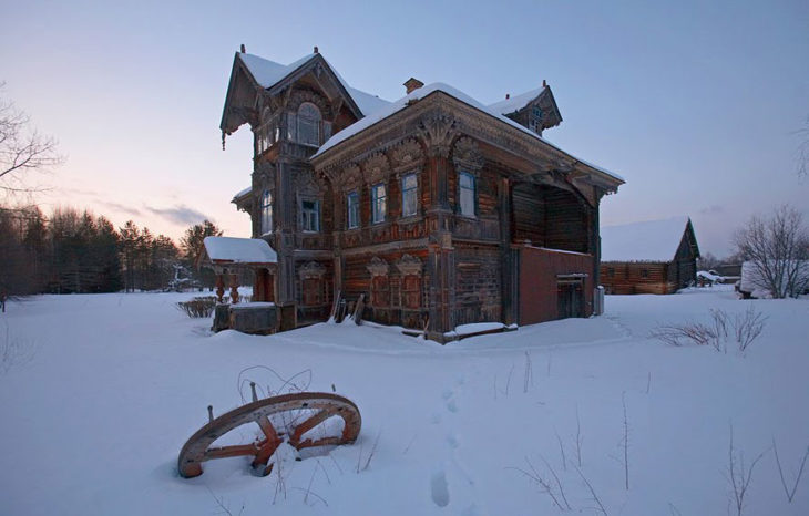 casa abandonada en Rusia