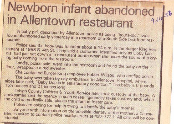 Noticia en el periódico
