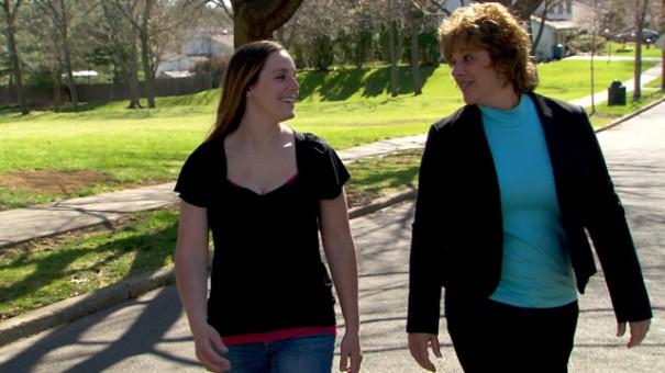 Katheryn Ann y su mamá biológica