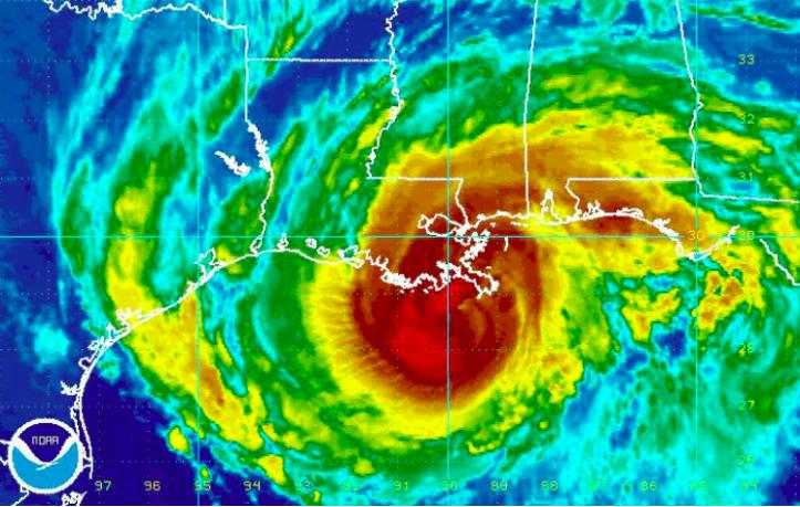 huracán en louisiana en 2008