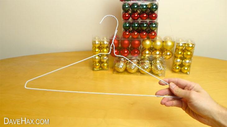 material para hacer corona navideña