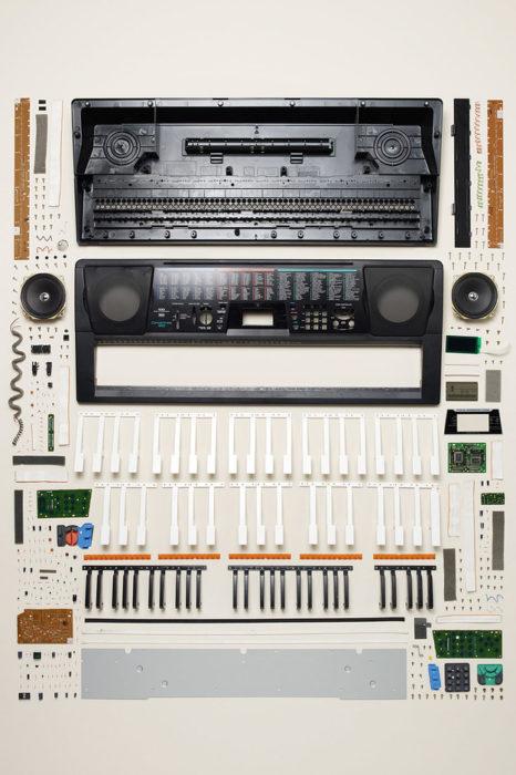 teclado desarmado