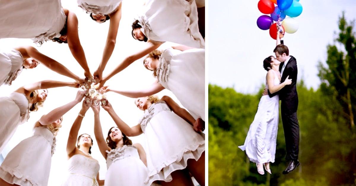 20 fotograf as originales y divertidas para sesi n de boda - Cosas para preparar una boda ...