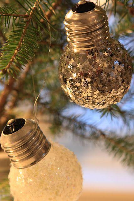 Manualidades navidad - esferas focos