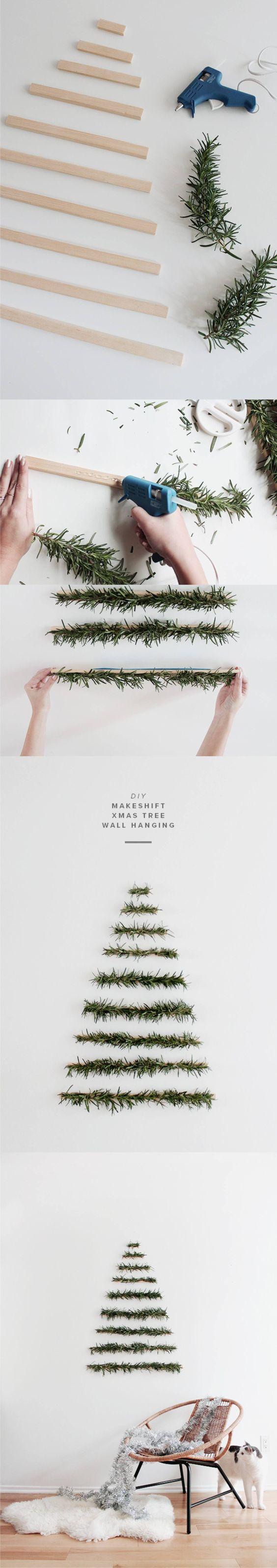 Manualidades navidad - arbol navideño para la pared