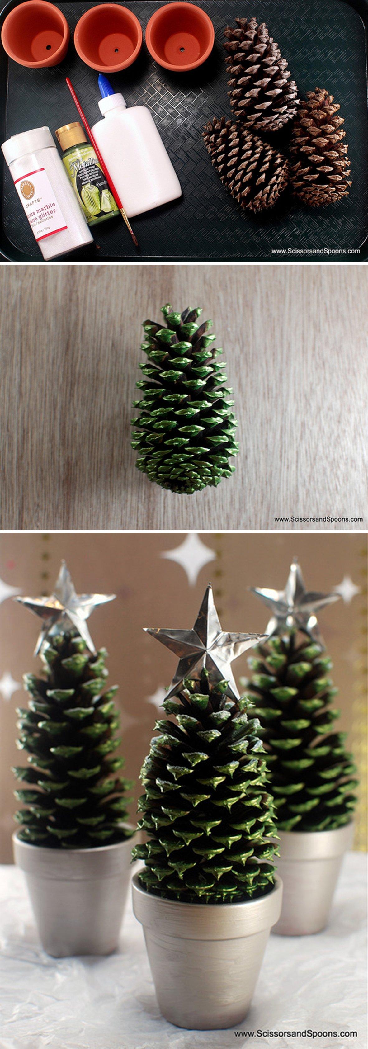 15 manualidades sencillas para decorar tu casa esta navidad - Manualidades para decorar tu casa ...