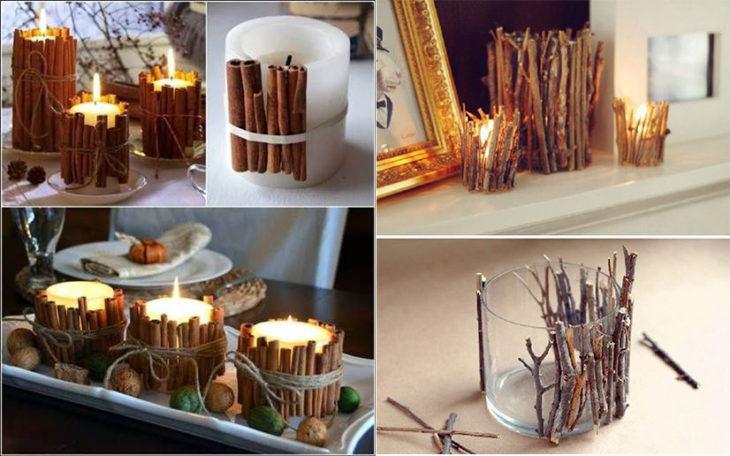 Manualidades navidad - decoración con canela