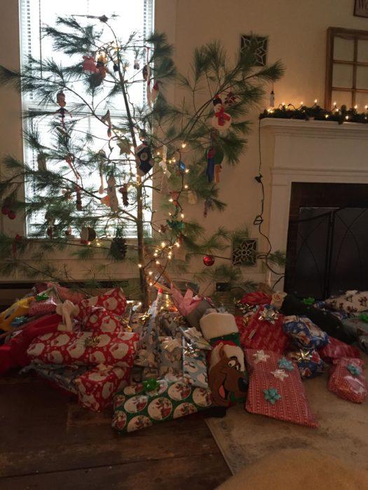Decoraciones navideñas para flojos - Arbol sin muchas ramas