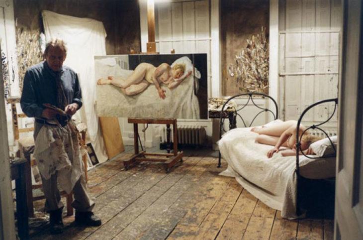Lucian Freud y su musa