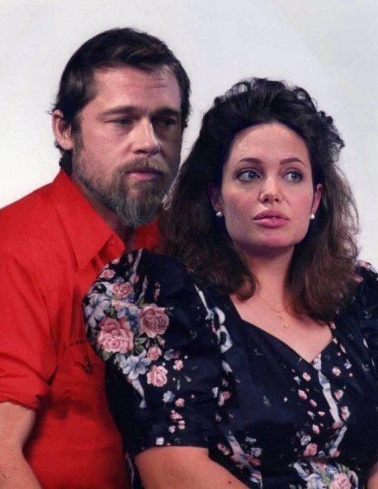 Cómo lucirían los famosos si fueran personas normales - Angelina Jolie y Brad Pitt señores