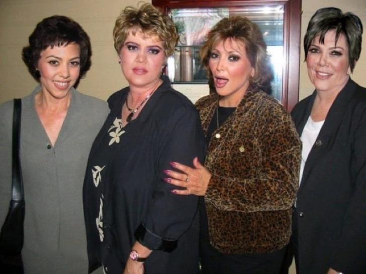 Cómo lucirían los famosos si fueran personas normales - Las Kardashian como señoras